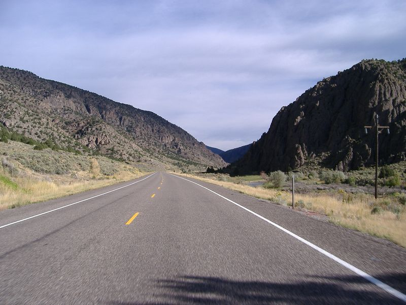 Highway 89, north of Panguitch.<br /> Saturday's ride was a clockwise loop:<br /> Start in Panguitch, head north on Highway 89.  <br /> Turn right onto Highway 62 just after Circleville.  <br /> At Koosharem, take a right onto the road signed for Loa (I forget the name. 2-lane paved).  <br /> Turn right at the Highway 24 intersection, then at Torrey, turn right onto Highway 12.