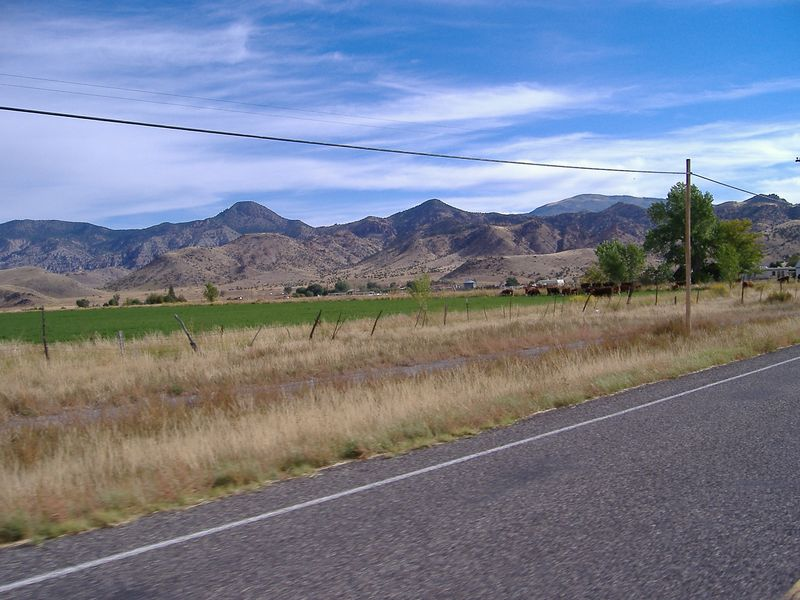 Pastoral scene, Highway 89, north of Panguitch.  Looking west from the highway.