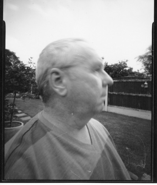 And finally, pinhole on film, self portrait, 8 seconds and if ever you need a reason for me to stop try to do portraiture, this will be it! I may give it one more chance, maybe!