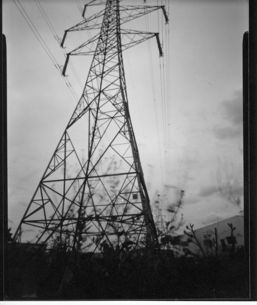 Pinhole on film, around 15 seconds, almost got all the pylon in, better luck next time. Still like it though.