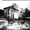 Pinhole on positive paper, quite a bright sunny day, derelict house or offices in an industrial area. Exposure was 1 minute 15 seconds.