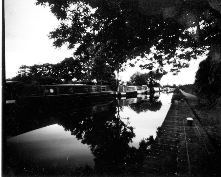 Pinhole on positive paper, early evening, it was quite dull and therefore the exposure was around 8 minutes.  Something I have learnt about scanning though is that you have to be very careful with fingerprints, it's what you can see in the top right hand side....