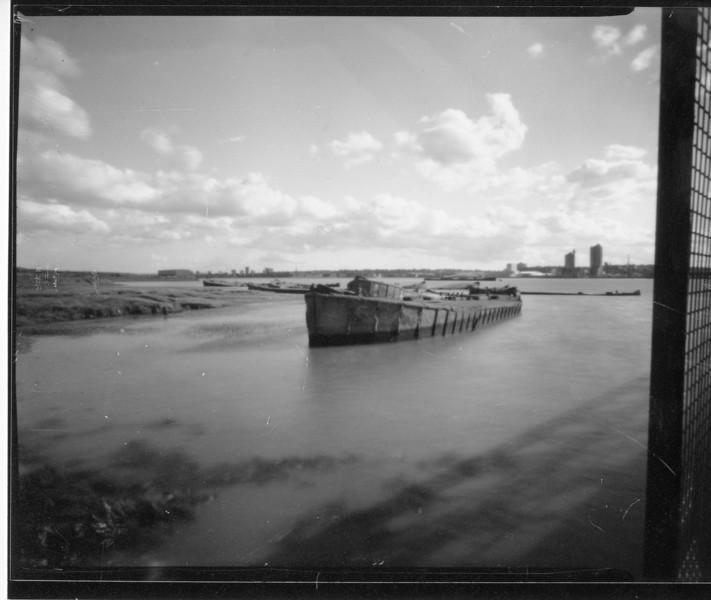 Pinhole on 100 ISO negative film.  Exposure was 5 seconds, here you can see the clouds are relatively sharp compared to the previous photo due to the shorter exposure.
