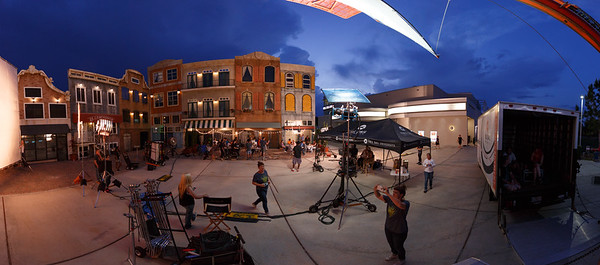 Full Sail University Film shoot on the FS Backlot. Photo & 360 video session.