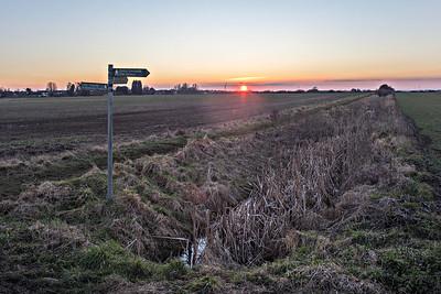 Signpost Sunset