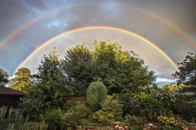 Double Rainbow Over My Garden