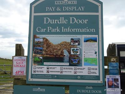 Durdle Door Car Park Info Jurassic Coast 28-02-2016 13-49-55