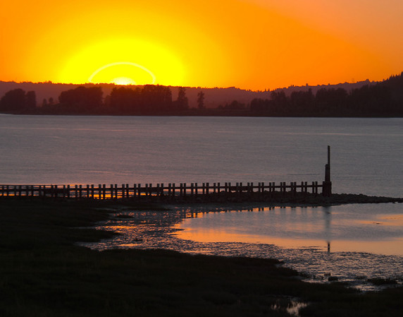 Sunset on Columbia River, Oregon_HDR