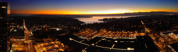 Bellevue - panorama from 28th floor - Jan 2009 - #1