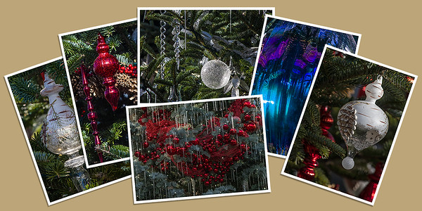 Holiday Ornaments Note Cards - Set B