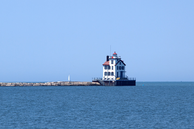 """Lorain Lighthouse by Lora Mosier<br /> <br />  <a href=""""http://www.burningriverboutique.com"""">http://www.burningriverboutique.com</a>"""