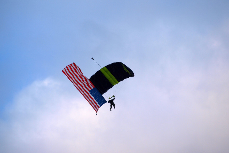 "Old Glory Parachuting by Lora Mosier<br /> <br />  <a href=""http://www.burningriverboutique.com"">http://www.burningriverboutique.com</a>"
