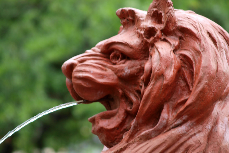 "Lion Fountain by Lora Mosier<br /> <br />  <a href=""http://www.burningriverboutique.com"">http://www.burningriverboutique.com</a>"