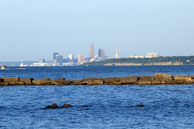 "Cleveland Skyline by Lora Mosier<br /> <br />  <a href=""http://www.burningriverboutique.com"">http://www.burningriverboutique.com</a>"