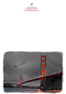 KW-124-Santa Over the Golden Gate Bridge