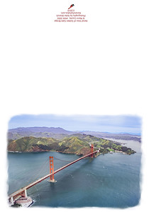 KW-3050 Aerial View of Golden Gate Bridge