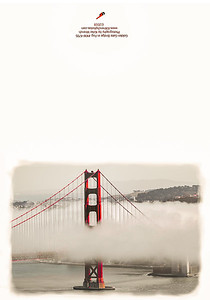 KW-4795 Golden Gate Bridge in Fog