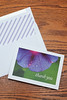 "Morning Glory Thank You Card - Blank Inside - With Lined Envelope - 7""X5"""
