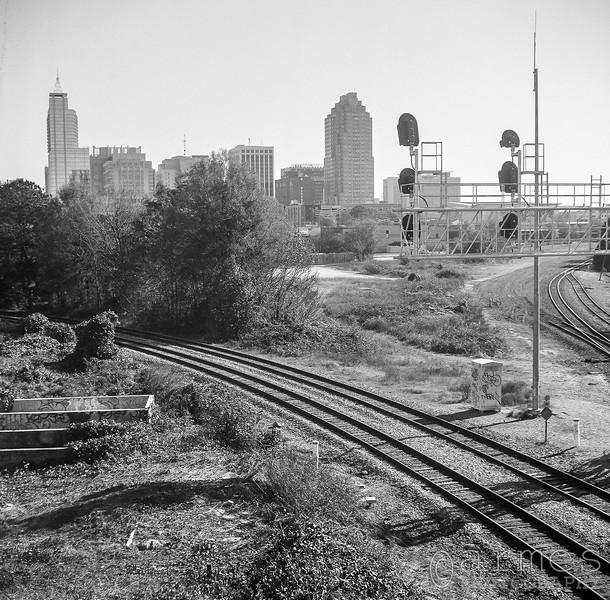 Raleigh skyline from Boylan Bridge, Raleigh, North Carolina