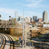 Raleigh city view from Boylan Bridge, Raleigh, North Carolina