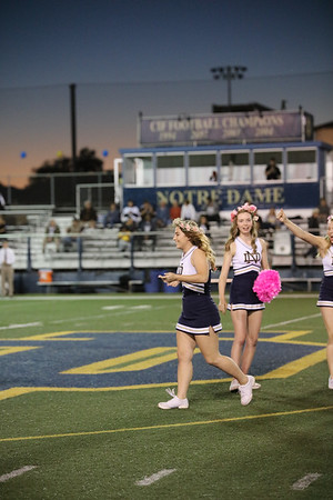 ND Senior Varsity Cheerleaders - Senior Night 10/28/16