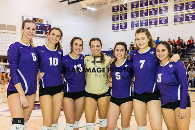 2017 Senior Night NDP Girls Volleyball