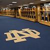 Football locker room in Notre Dame Stadium<br /> <br /> Photo by Matt Cashore/University of Notre Dame