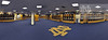 Panoramic view of the Football locker room in Notre Dame Stadium.<br /> <br /> Photo by Matt Cashore/University of Notre Dame
