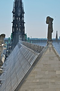 Ridge line and spire which collapsed.
