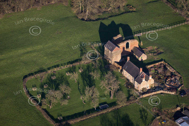 Aerial photo of Beauvale Priory.