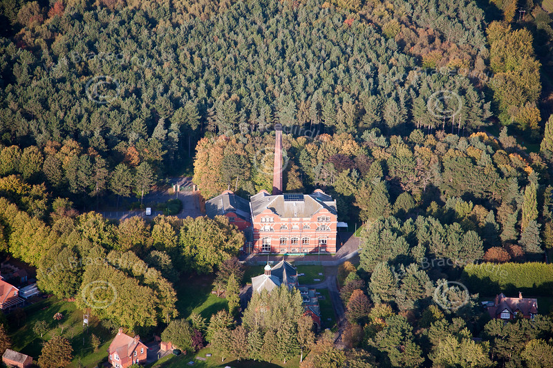 Boughton Pumping Station aerial photo.