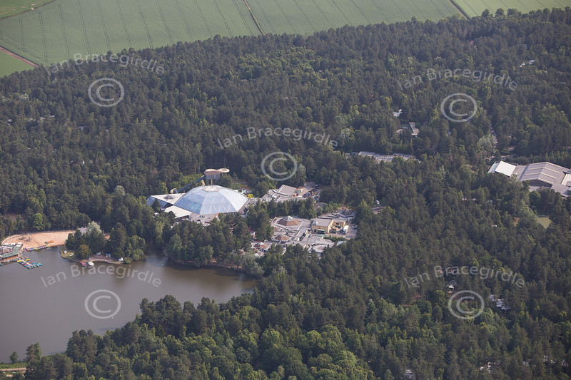 Centre Parcs aerial photo.