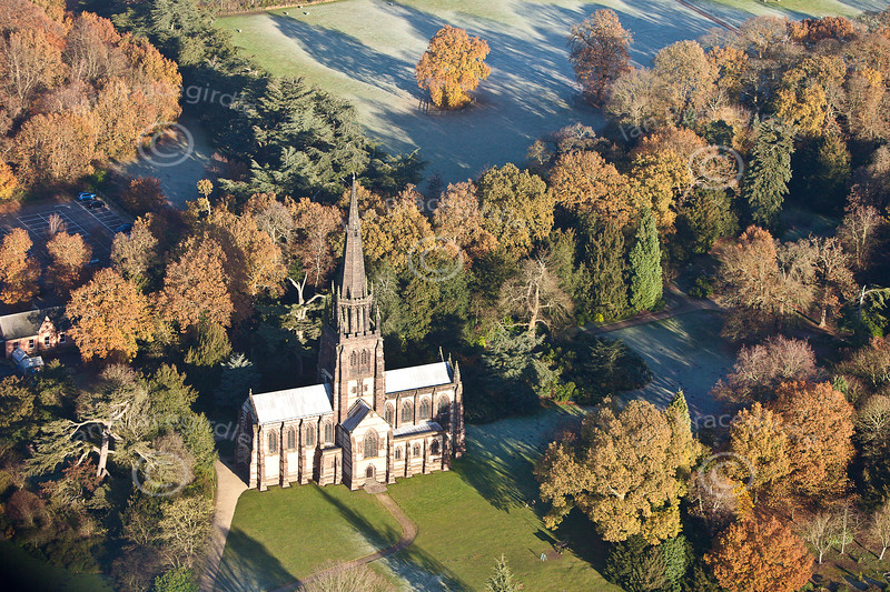 Clumber Park from the air.