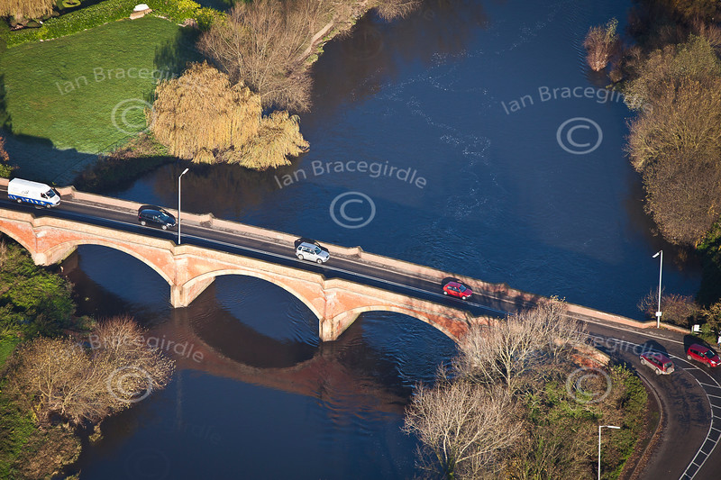 Kelham Bridge from the Air.