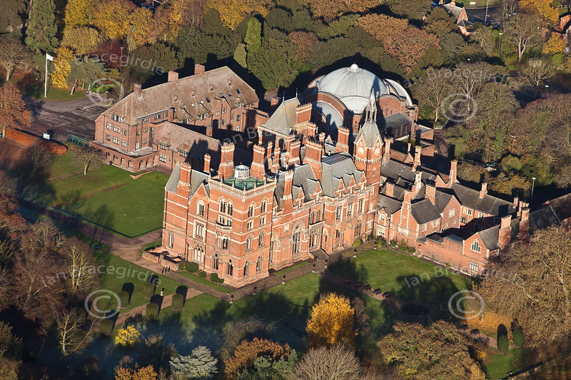 Kelham Hall from the Air.