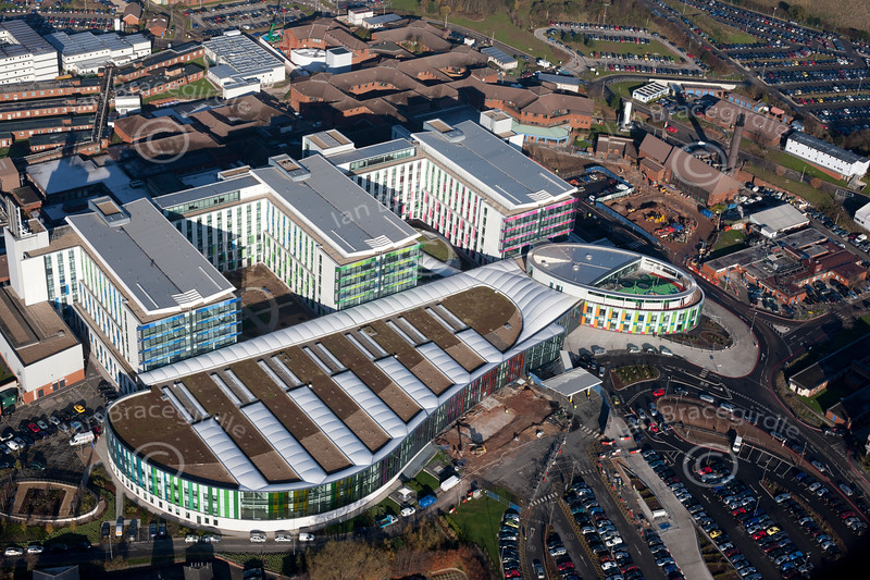 Kingsmill Hospital from the air.
