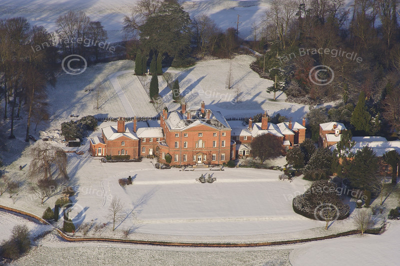 Norwood Hall aerial photo.