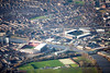 Nottingham football grounds in Nottingham from the air.