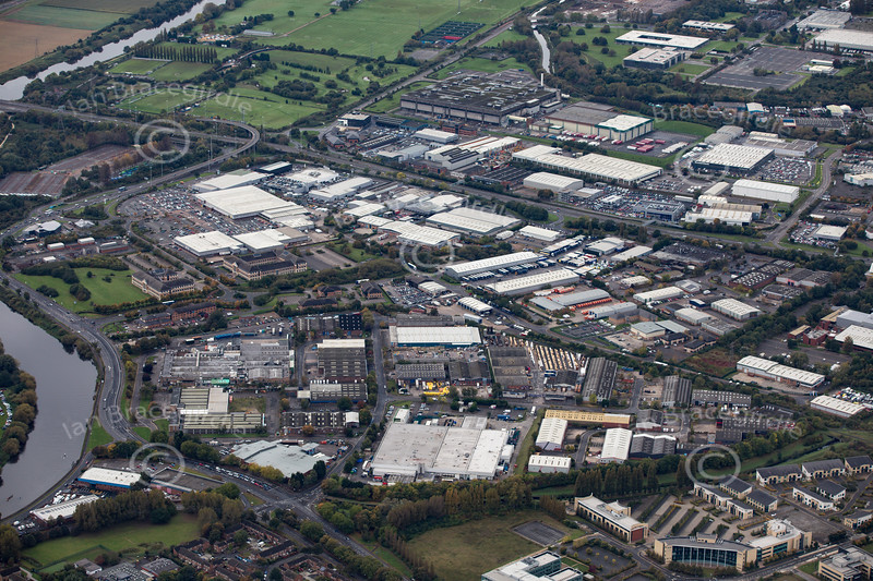 Aerial photo of Lenton Lane Industrial Estate.