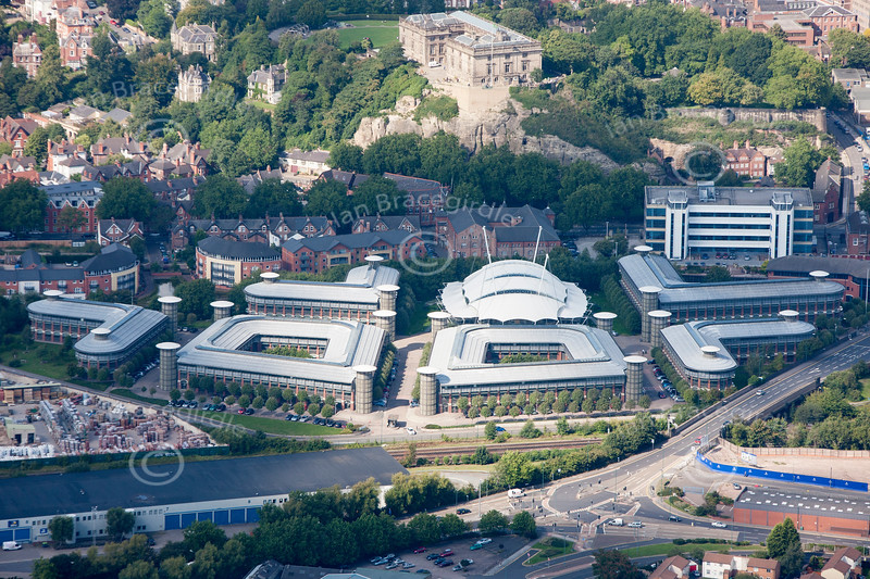 Inland Revenue HQ in Nottingham from the air.