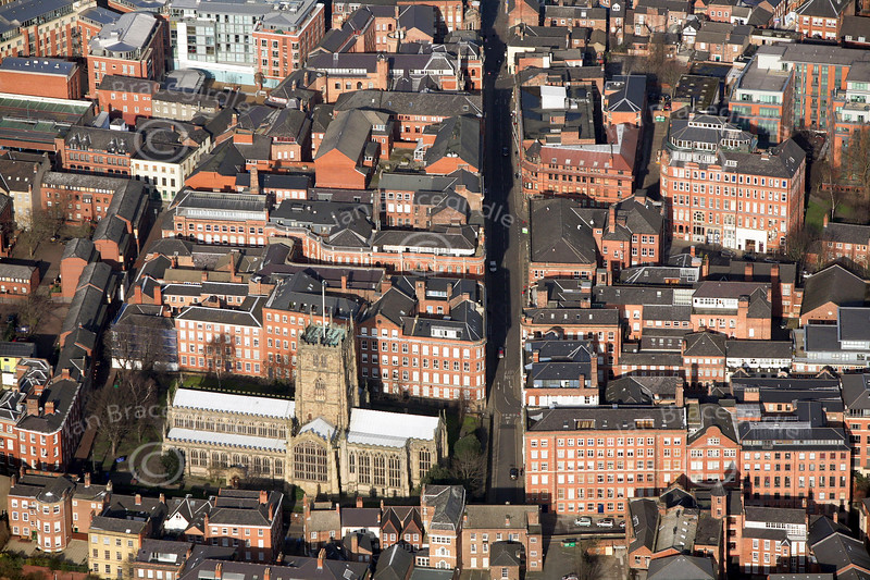 Nottingham Lace Market from the air.