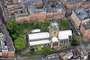 St Mary's Church in Nottingham from the air.