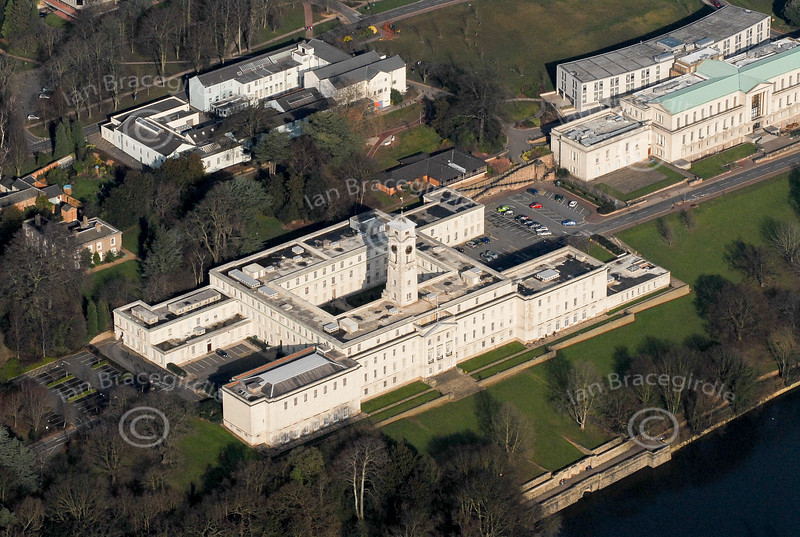 The Trent Building in Nottingham from the air.