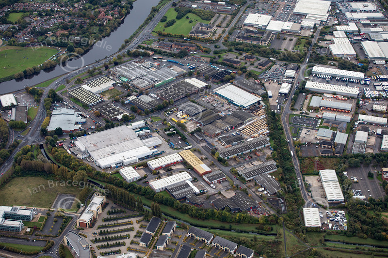 Aerial photo of Longwall Drive.
