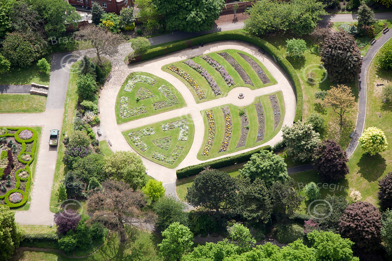 Nottingham Arboretum from the air.