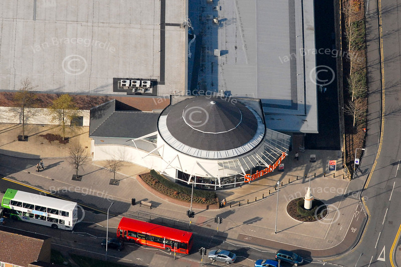 Sainsbury supermarket in Nottingham from the air.
