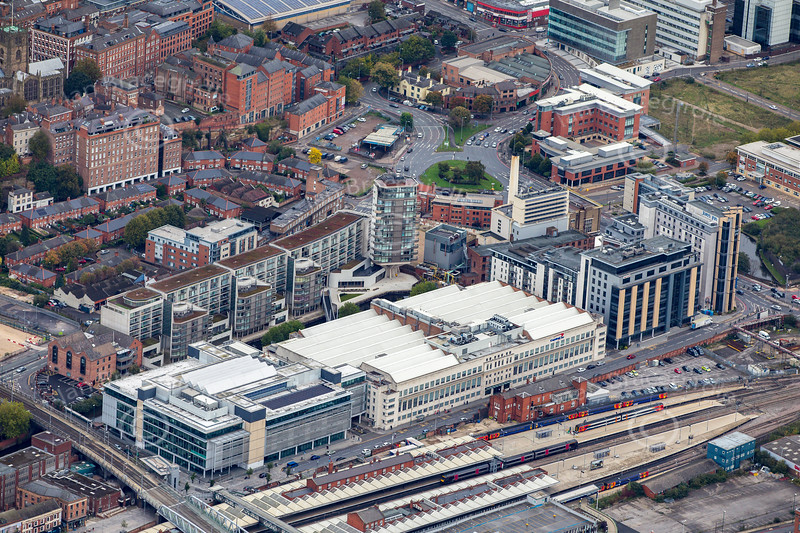 Aerial photo of Nottingham.