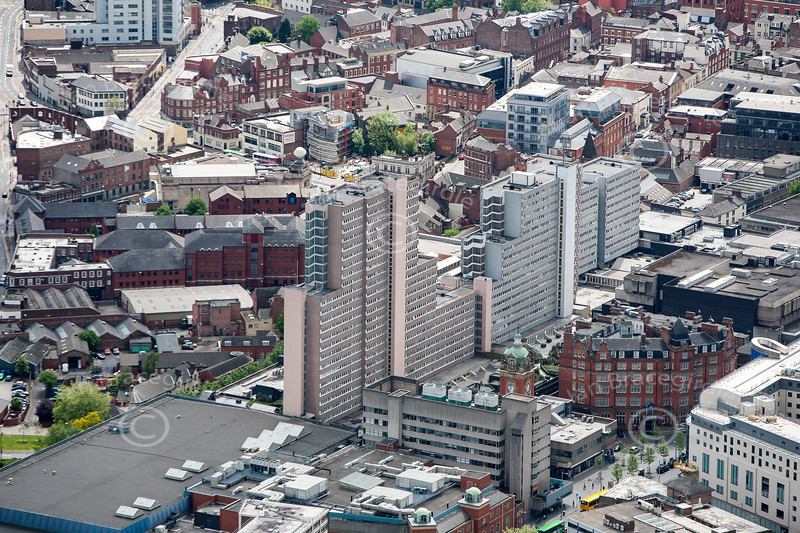 Aerial photo of the Victoria Centre.