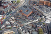 Angel Row in Nottingham from the air.