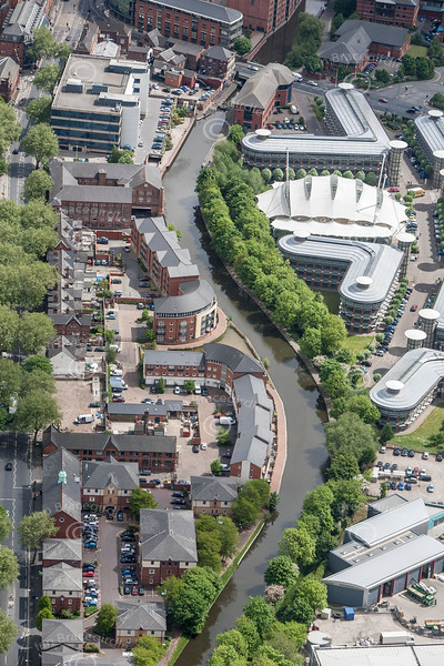 Nottingham Canal from the air.